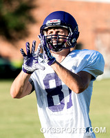 OK3Sports coverage of the University of Mary Hardin Baylor first full team, full pads workout