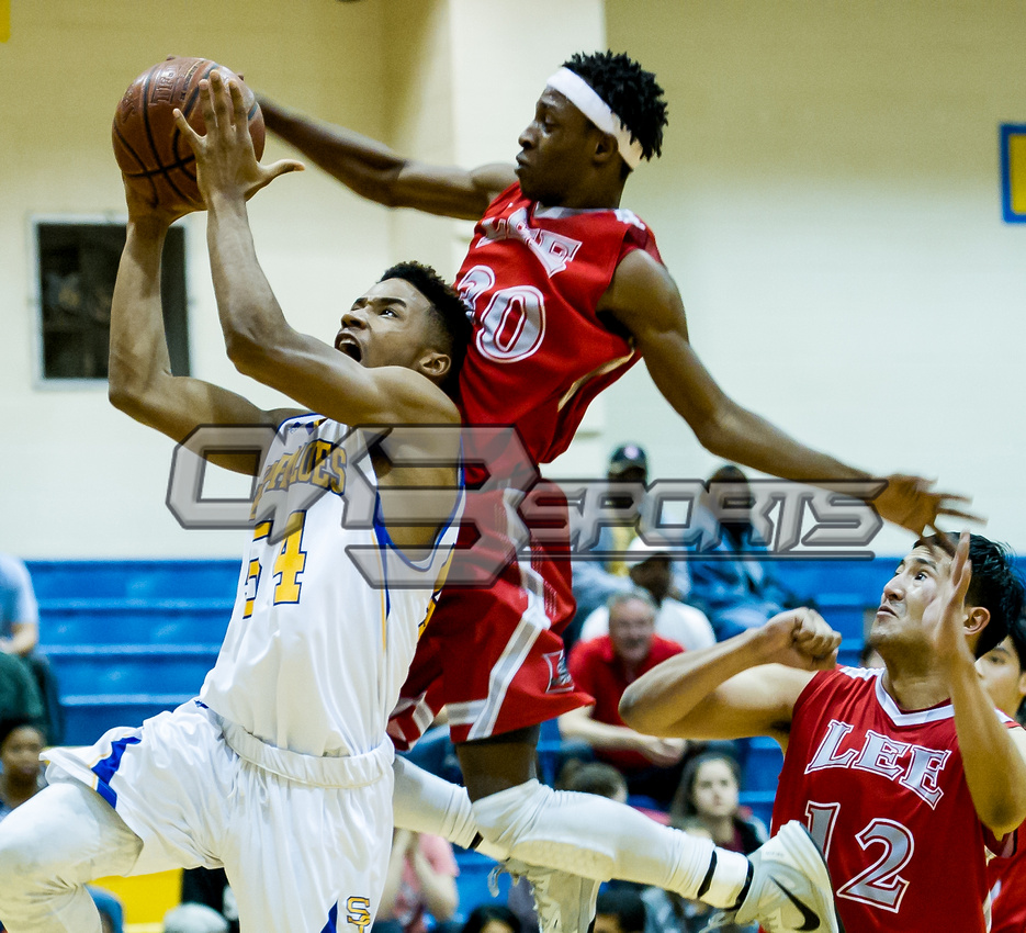 Olen C. Kelley III's coverage of the Samuel Clemens vs Lee boys basketball game